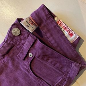 True Religion Plum Purple Tara Skinny Jean 24